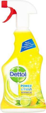 Dettol Power & Fresh Antibakteriální víceúčelový sprej –Citron & Limeta