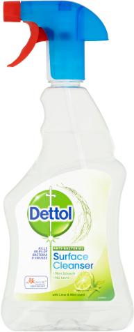 Dettol Antibakteriální sprej na porvrchy Limetka a máta